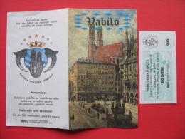VABILO+BON 20 DEM BAVARIA WOLLTEX COMPANY - Slovénie