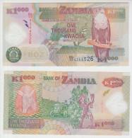 Zambia 1000 Kwacha 2011 Pick 44h UNC - Zambia