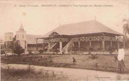 CONGO FRANCAIS 16 BRAZZAVILLE CATHEDRALE ET PALAIS EPISCOPAL AVEC L'ESCALIER D'HONNEUR - Brazzaville