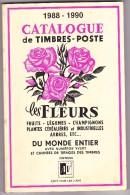 Catalogue Des Fleurs - 1988-1990 - 243 Pages - Philatélie Et Histoire Postale