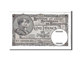 [#111116] Belgique, 5 Francs Type 1926-31 - [ 2] 1831-... : Belgian Kingdom