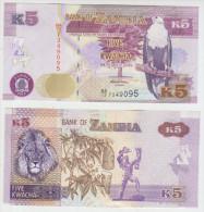 Zambia 5 Kwacha 2012 Pick NEW UNC - Zambia