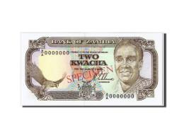 [#306083] Zambie, 2 Kwacha Type Kaunda, Specimen - Zambie