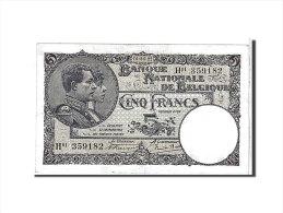 [#111125] Belgique, 5 Francs Type 1922-26 - [ 2] 1831-... : Belgian Kingdom
