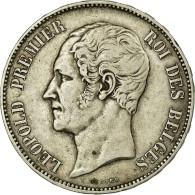 Monnaie, Belgique, Leopold I, 5 Francs, 1853, TTB, Argent, KM:2.1 - 11. 5 Francos