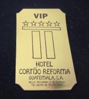 HOTEL MOTEL PENSION HOUSE CORTIJO REFORMA GUATEMALA STICKER DECAL LUGGAGE LABEL ETIQUETTE KOFFERAUFKLEBER - Hotel Labels