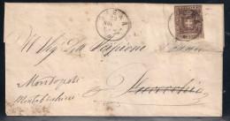GOVERNO PROVVISORIO - DA SIENA A FUCECCHIO - 22.11.1860. - Toscana