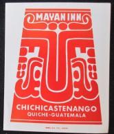 HOTEL MOTEL PENSION HOUSE INN MAYANINN QUICHE GUATEMALA CITY STICKER DECAL LUGGAGE LABEL ETIQUETTE KOFFERAUFKLEBER - Adesivi Di Alberghi