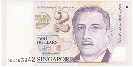 Singapour, 2 Dollars, Type Président Encik Yusof Bin Ishak - Singapore