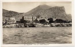 Sicilia-palermo-palermo Veduta Villa Igea E Monte Pellegrino(picc.-b.n.-n.v.) - Palermo