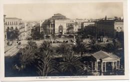Sicilia-palermo-palermo Piazza Castelnuovo E Politeama Garibaldi(picc.-b.n.-n.v.) - Palermo