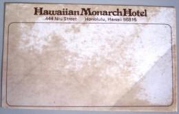 ISLAND HOTEL MOTEL PENSION HOUSE INN HAWAII MONARCH HONOLULU USA STICKER DECAL LUGGAGE LABEL ETIQUETTE KOFFERAUFKLEBER - Hotel Labels
