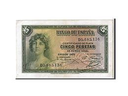 Espagne, 5 Pesetas Type 1935 - [ 2] 1931-1936 : Republiek
