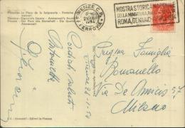 1954 MOSTRA STORICA NAZIONALE DELLA MINIATURA ROMA PALAZZO VENEZIA TARGHETTA MECCANICA - Affrancature Meccaniche Rosse (EMA)