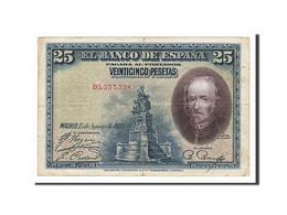 Espagne, 25 Pesetas Type De La Barca - [ 1] …-1931 : Eerste Biljeten (Banco De España)