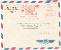 MAROCCO - MAROC - 1969 - EMA, Red Cancel - 040 - Air Mail - SIME - Viaggiata Da Tanger Per Montbéliard, France - Marocco (1956-...)