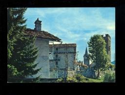 CHAMPORCHER Val D'Aosta Vallée D'Aoste : Scorcio Panoramico Campanile Della Chiesa E La Torre Dei Conti Di Bard 1984 - Italia