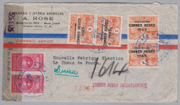 Costa Rica 1945-06-14 Zensur Flugpost Brief Nach La Chaux De Fonds - Costa Rica