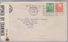 OZ Neuseeland 1944-06-28 Wellington Zensur Brief Nach New-York USA - 1907-1947 Dominion