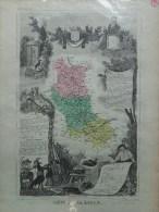 42 - LOIRE - CARTE GEOGRAPHIQUE LEMERCIER 1861- - Geographical Maps