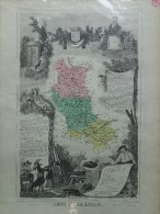 42 - LOIRE - CARTE GEOGRAPHIQUE LEMERCIER 1861- - Geographische Kaarten