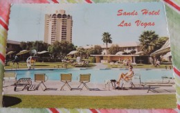 """Sands Hotel : at Pool Sire (Las Vegas, Nevada, USA) - Flamme """"70 years of flight 1903-1973 Kitty Hawk to the moon"""""""
