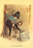 CPM Collection POULBOT - Menus Le Cornet 201° Diner 1919 - Jouons Plûtot à L´employé Du Gaz Qui Se Frotte Le Ventre - Poulbot, F.