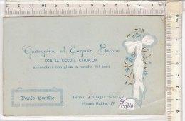 PO1378D# BIGLIETTO PARTECIPAZIONE NASCITA - BEBE' - TORINO 1937/BAMBINI - Nascita & Battesimo