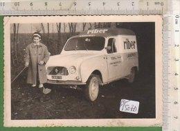 PO1507D# FOTOGRAFIA AUTO RENAULT 4 FOURGONNETTE PUBBLICITARIO LAVATRICI RIBER - Automobile