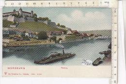 PO1710D# GERMANIA - GERMANY - WURZBURG - FESTUNG - BATTELLO A VAPORE - Acquerellata  No VG - Wuerzburg