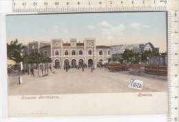 PO1782D# BRESCIA - STAZIONE FERROVIARIA - Acquerellata  No VG - Brescia
