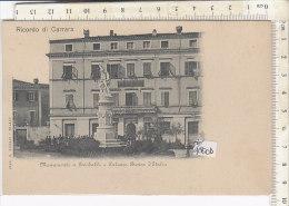 PO1800D# CARRARA - MONUMENTO A GARIBALDI E PALAZZO BANCA D'ITALIA  No VG - Carrara