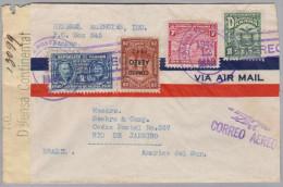 Panama 1942-03-12 Zensur Flugpost Brief Nach Rio De Janeiro - Panama
