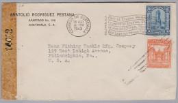 Guatemala 1943-08-28 Zensur Brief Nach Philadelphia - Guatemala