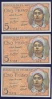 Splendid Billet - 5 Francs Du 02 10 1944 - Pick 94b  FDS - UNC - Algeria