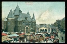 Nederland Ansichtkaart 1906 Amsterdam Nieuwmarkt - Amsterdam