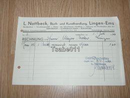 L. Nottbeck Buch Und Kunsthandlung Lingen Ems 1936 Rechnung Germany - Germania