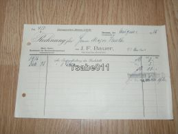 J. F. Bauer Gartenbaubetrieb Bremen 1934 Rechnung Germany - Germania