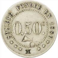 """Châlons-sur-Marne, Société De Consommation, 50 Centimes """"M"""", Elie 25.3var - Monetari / Di Necessità"""