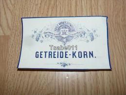 Getreide Korn Adolf Werner Ottweiler Liqueurfabrik Germany - Altre Collezioni