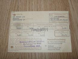 Fernmeldeamts Dortmund Bochum 1962 Rechnung Germany - Deutschland
