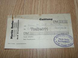 Martin Ender Motorrader Fahrrader Zubehör Bad Oeynhausen N.S.U. Triumph Horex 1953 Rechnung Germany - Germania