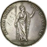 [#36510] Italie, Lombardie-Vénétie, 5 Lire, 1848, Milan, KM 22.1
