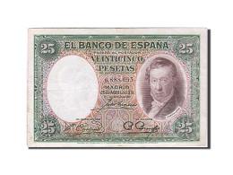 Espagne, 25 Pesetas, Type Vincente Lopez - 1-2-5-25 Pesetas