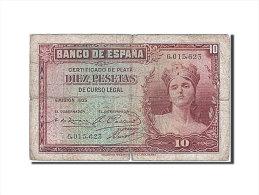 [#257937] Espagne, 10 Pesetas, Type 1935-1936 - [ 2] 1931-1936 : Repubblica