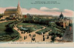 ENVIRONS   DE ROUEN  BON SECOURS  L'EGLISE ET LE MONUMENT DE JEANNE D'ARC      (NUOVA) - Rouen