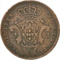 Açores, Maria II, 10 Reis 1843, KM 11 - Azores