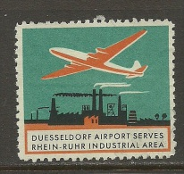 Reklamemarke DÜSSELDORF Flughafen Airport - Erinnofilie