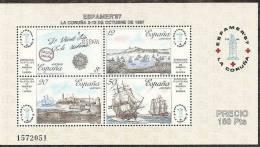 1987-ED. 2916 H.B.-ESPAMER'87-PUERTOS LACORUÑA-LA HABANA,CORREO DE INDIAS-NUEVO- - Blocks & Sheetlets & Panes