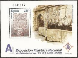 2000-ED.3716 H.B.-EXFILNA´00-CAÑOS DE S.FRANCISCO,AVILES(ASTURI AS)-NUEVO - Blocs & Hojas